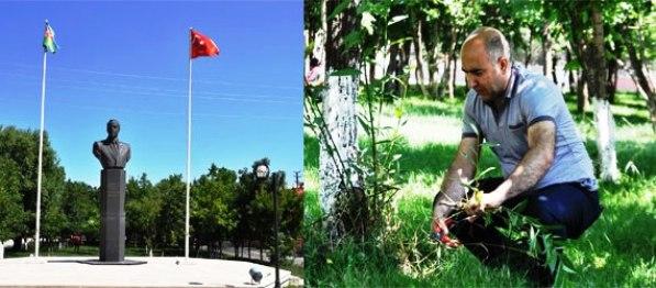 Kars'taki Haydar Aliyev Parkı kıskandırıyor