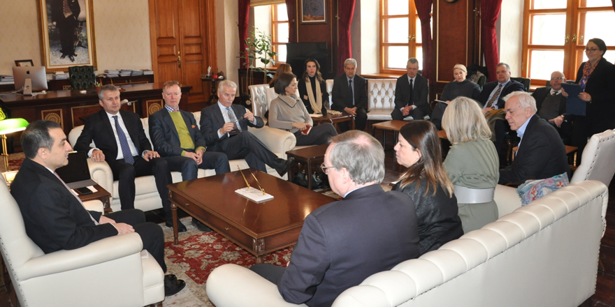 AB Türkiye Delegasyonu, Vali Öksüz'ü ziyaret etti