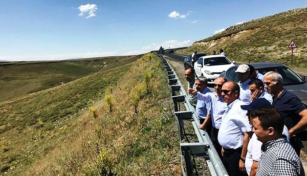 DSİ heyeti Kağızman Barajı inşaatını inceledi