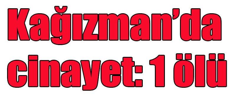 Kağızman'da cinayet: 1 ölü