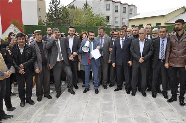 AK Parti Kars İl Başkanlığı, İsrail ve Amerika'yı protesto etti