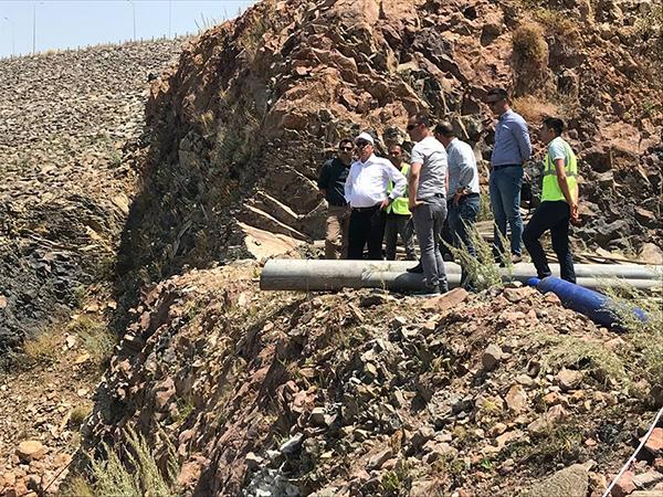 DSİ, 24. Bölge Müdürü Dündar, Kars Barajında incelemelerde bulundu