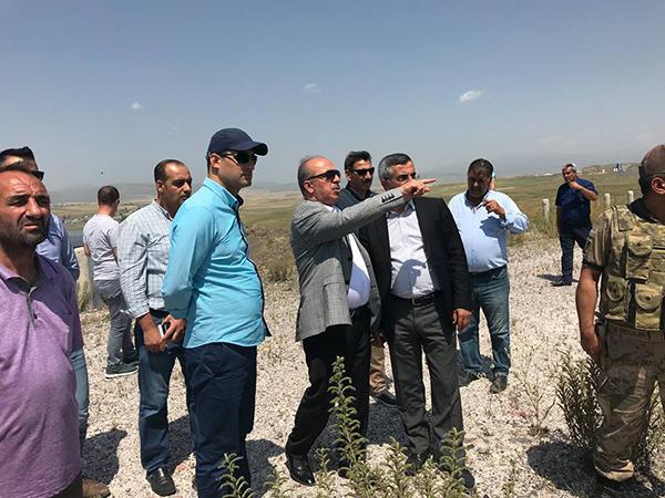 Çamçavuş Köyü yeni yerleşim alanında devam eden çalışmalar incelendi