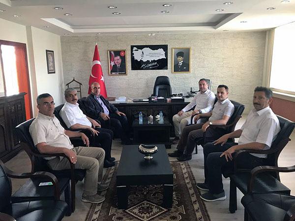 DSİ 24. Bölge Müdürü Dündar, Akyaka Kaymakamı Mızrak'ı ziyaret etti