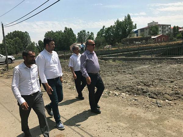 DSİ heyeti, Akyaka ilçe merkezinde taşkın koruma inşaatını inceledi