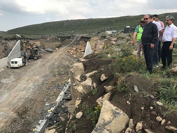 DSİ heyeti, Koçköy Göleti ve sulaması inşaatlarında incelemede bulundu