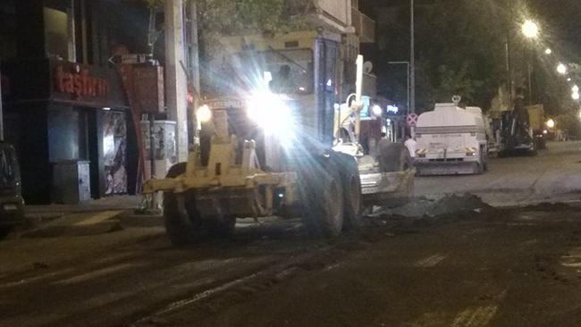 Faikbey Caddesinde iyileştirme çalışması başlatıldı