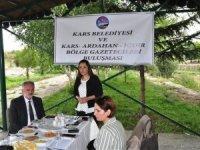 3 ilin gazetecileri Kars Belediyesiyle buluştu