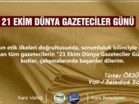 Vali Öksüz'ün Dünya Gazeteciler Günü mesajı