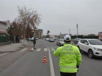 Yaya öncelikli trafik denetimi Kars'ta da yapıldı