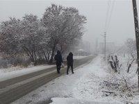 Kar yağışı Iğdır'da da etkili oluyor