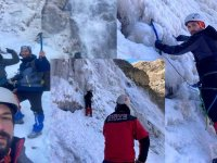 Zirve Dağcılık, Susuz Şelalesine buz tırmanışı yaptı