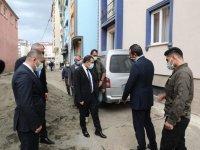 Vali/Belediye Başkanı Türker Öksüz, Belediye çalışmalarını inceledi