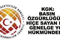 """KGK: """"Basın özgürlüğünü hiçe sayan bir genelge yok hükmündedir"""""""