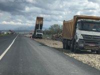 Kars-Arpaçay karayolunda yol çalışmaları başladı