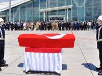 Şehit Astsubay Öztürk'ün cenazesi memleketi İzmir'e gönderildi