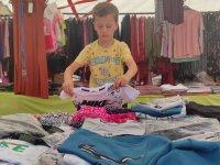 Kars'ta 'küçük pazarcı' tezgah açtı