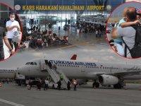 Kars Harakani Havalimanı'nda bayram yoğunluğu!