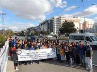 Karslı 100 çocuk polis abileri ile Erzurum'u gezdi