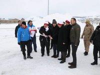 Kars Valisi Türker Öksüz, Sarıkamış'ta tören alanını inceledi