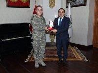 25. Hudut Tugay Komutanı Tuğgeneral Kırış, Vali Öksüz'ü ziyaret etti