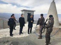 Kağızman Kaymakamı Ercan Öter, üs bölgesini ziyaret etti