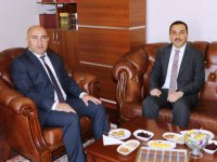 Vali Türker Öksüz'den, Azerbaycan Başkonsolosu Nuru Guliyev'e ziyaret