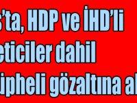 Kars'ta, HDP ve İHD'li yöneticiler dahil 12 şüpheli gözaltına alındı