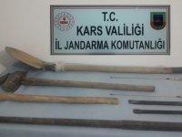 Kars'ta kaçak kazı operasyonu!