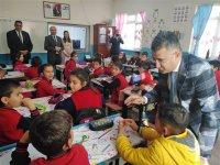 Kaymakam İshak Çınar, Halime Arslan Yıldız İlkokulunu ziyaret etti