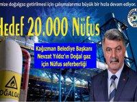 Başkan Nevzat Yıldız'ın Kağızman'a doğalgaz için nüfus seferberliği
