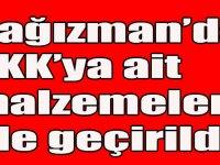 Kağızman'da, PKK'ya ait malzemeler ele geçirildi