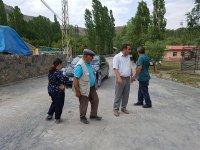 Kağızman'da köy içi yolları parke oluyor