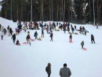 Sarıkamış Cıbıltepe Kayak Merkezi, yarıyıl tatilinde doldu taştı