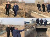 DSİ 24. Bölge Müdürü Mahmut Dündar, sulama şebekelerini inceledi