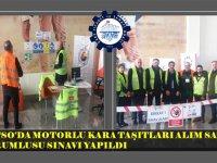 KATSO'da motorlu kara taşıtları alım satım sınavı yapıldı