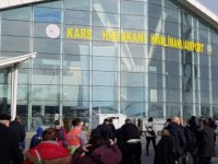 Kars'ta uçak seferleri durduruldu