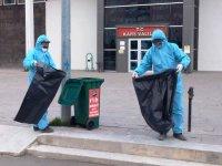 Kars Belediyesinden maske ve eldivenler için özel atık kutuları