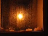 Mum ışığında iftar