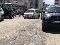 Kars'ta cadde ve kaldırımlar işgal altında